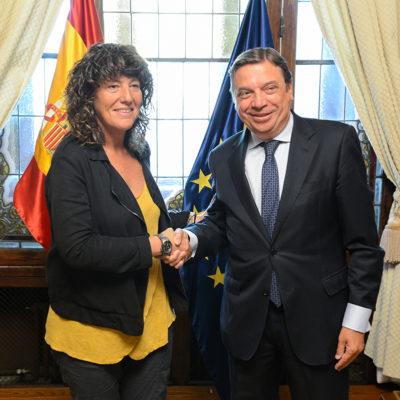 La consellera Teresa Jordà amb el ministre Luís Planas