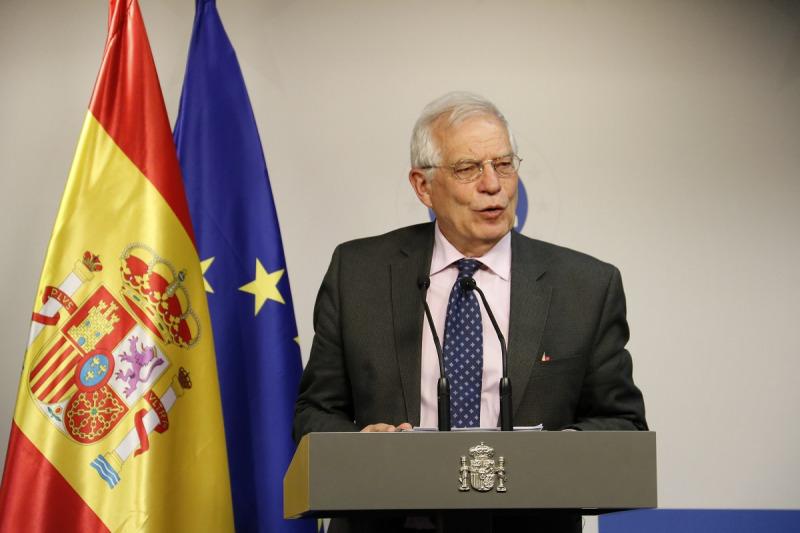 El ministre espanyol d'Exteriors, Josep Borrell, en roda de premsa