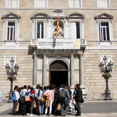 Pla general de la façana del Palau de la Generalitat