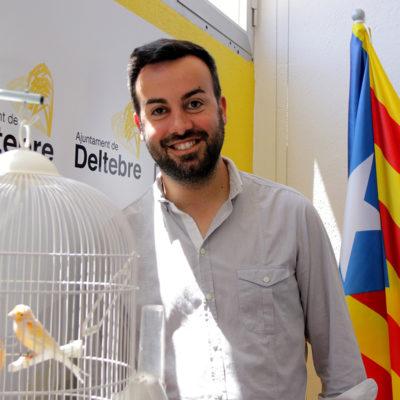 L'alcalde de Deltebre, Lluís Soler, a les dependències de l'alcaldia