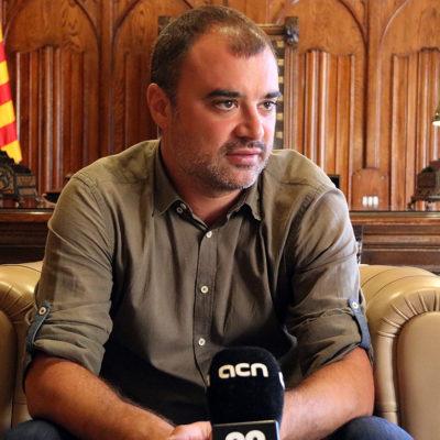 Jordi Ballart, alcalde de Terrassa, en una entrevista amb l'ACN