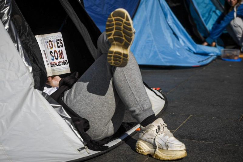 Imatge de l'acampada a Barcelona