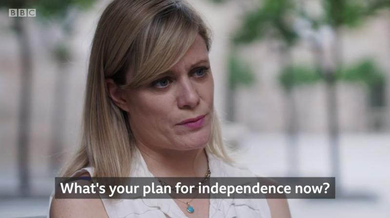 Una captura de pantalla del vídeo de la BBC
