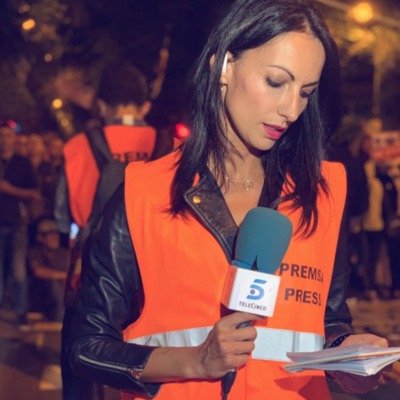 La periodista de Telecinco, Laila Jiménez