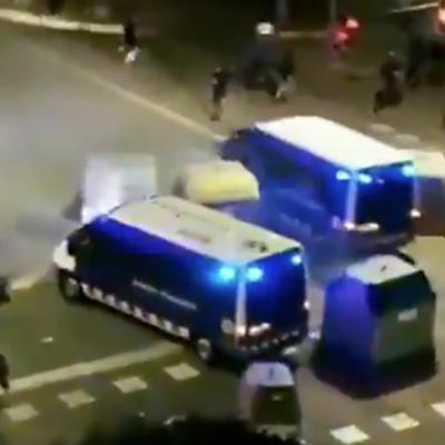 Captura de pantalla del vídeo en el qual els Mossos atropellen un manifestant a Tarragona