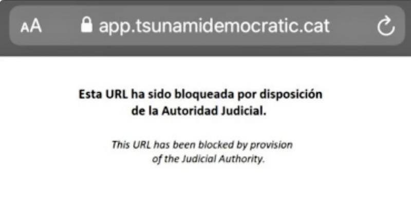 La Guàrdia Civil ordena blocar les webs del Tsunami Democràtic