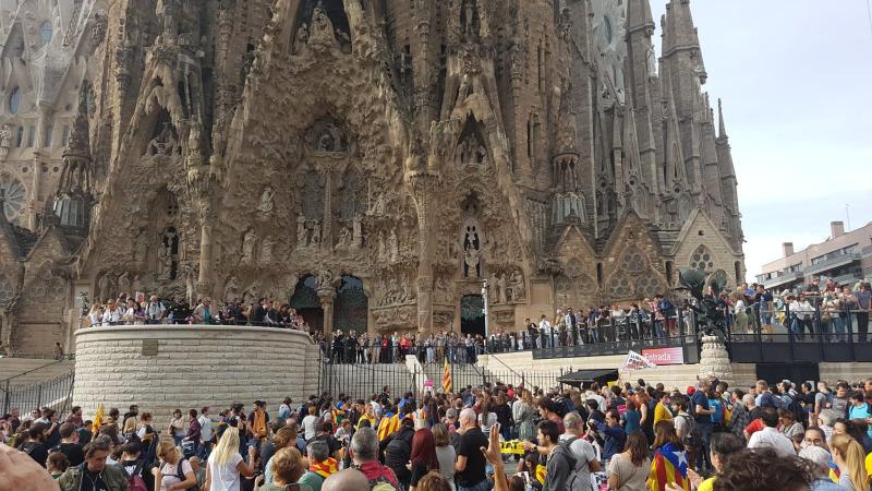 Convocatòria del 'Pícnic per la República' a la Sagrada Família