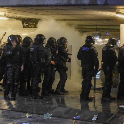 Imatge de les protestes a l'aeroport del Prat / Marc Puig