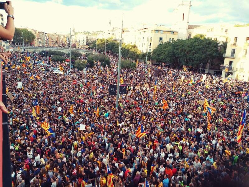 Manifestació en el marc de l'aturada de país del 3 d'octubre del 2017
