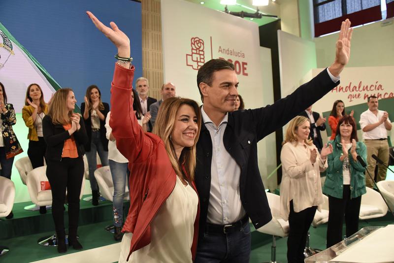 Susana Díaz, presidenta de la Junta d'Andalusia durant el cas dels ERO, amb Pedro Sánchez