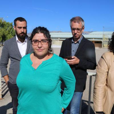 Els advocats dels CDR empresonats, Eva Pous, Jordi Busquets, Montse Vinyets, i David Aranda, a les portes de Soto del Real
