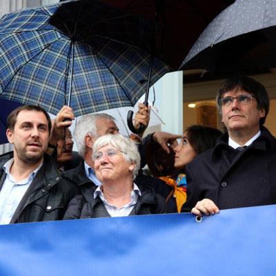 Carles Puigdemont, Toni Comín i Clara Ponsatí