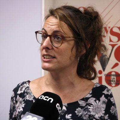 Primer pla de la cap de llista de la CUP a les eleccions espanyoles del 10 de novembre, Mireia Vehí, el 4 d'octubre de 2019