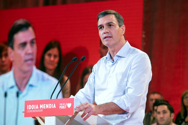 El líder del PSOE i president del govern en funcions, Pedro Sánchez