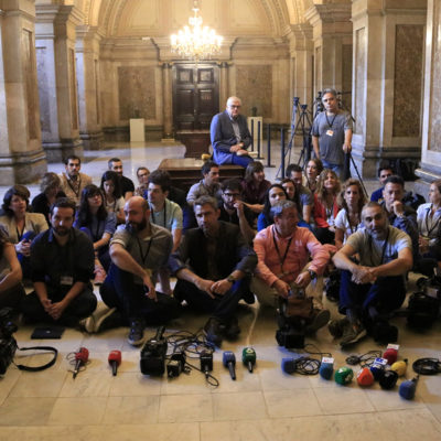 La protesta del Col·lectiu Ciutadella al Parlament