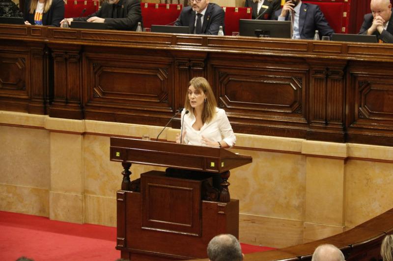 Pla general de la presidenta de CatECP, Jéssica Albiach, al Parlament