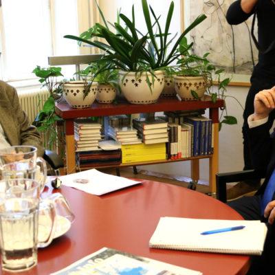 La reunió entre el conseller d'Acció Exterior, Alfred Bosch, i l'exvicecanceller d'Àustria, Erhard Busek a Viena
