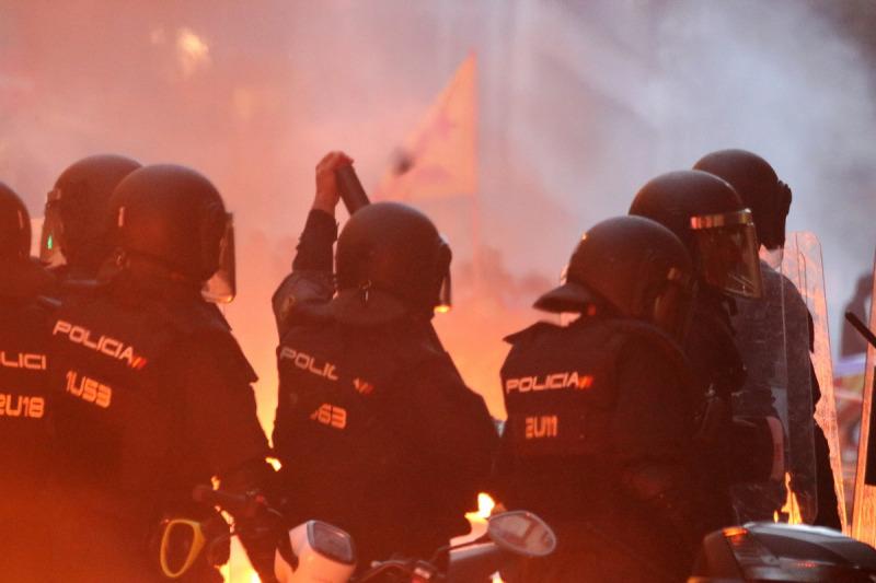 Policia Nacional a Barcelona, el 18 d'octubre