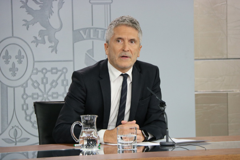 El ministre de l'Interior en funcions, Fernando Grande-Marlaska