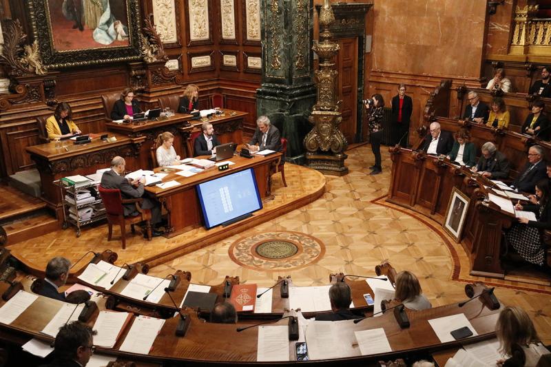 El ple de l'Ajuntament de Barcelona del 25 d'octubre del 2019