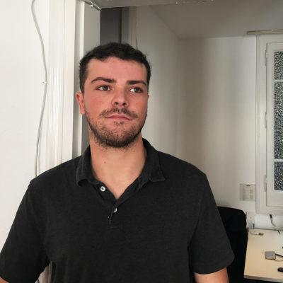 L'advocat de la cooperativa d'assessorament jurídic IACTA, Marc Pairó, al seu despatx de Barcelona