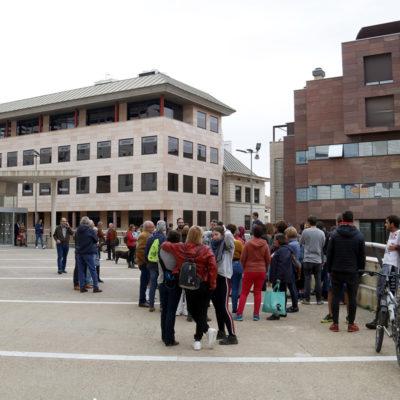 Concentració davant dels jutjats de Lleida per demanar la llibertat del jove veí d'Artesa de Segre a la presó