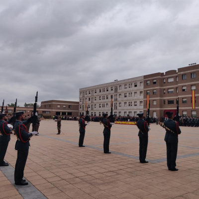 Celebració de la patrona de la Guàrdia Civil, la verge del Pilar, a la comandància de Sant Andreu de la Barca