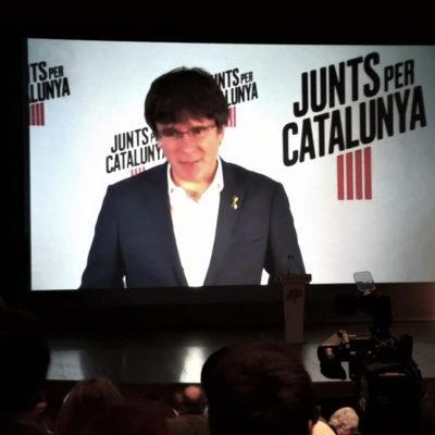Carles Puigdemont intervé a l'acte de JxCat