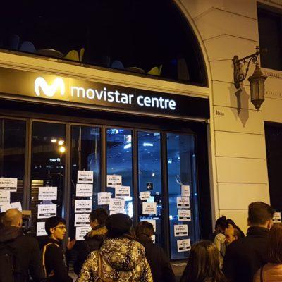 Imatge de l'empaperada a Movistar impulsada per PxR