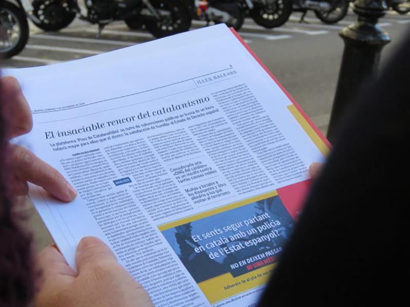 La Plataforma per la Llengua ha demandat 'El Mundo' per aquest article