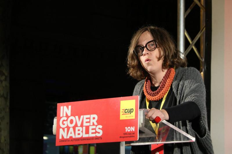 Eulàlia Reguant, candidata de la CUP al Congrés, a la valoració de la jornada electoral, el 10 de novembre de 2019