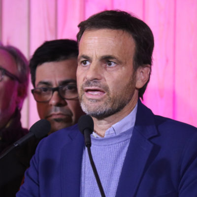 El candidat d'En Comú Podem, Jaume Asens, durant la valoració dels resultats electorals a la seu del partit, el 10 de novembre del 2019.