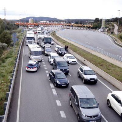 Conductors atrapats a la Jonquera aquest 11 de novembre del 2019