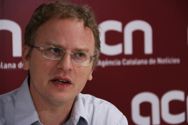 L'autor Paul Engler en una entrevista amb l'ACN