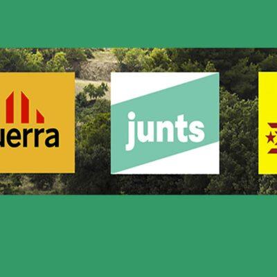 Logos d'ERC, Junts i CUP