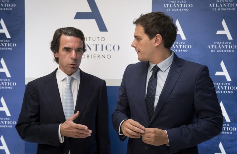 Albert Rivera exhibeix liberalisme en un acte organitzat per Aznar